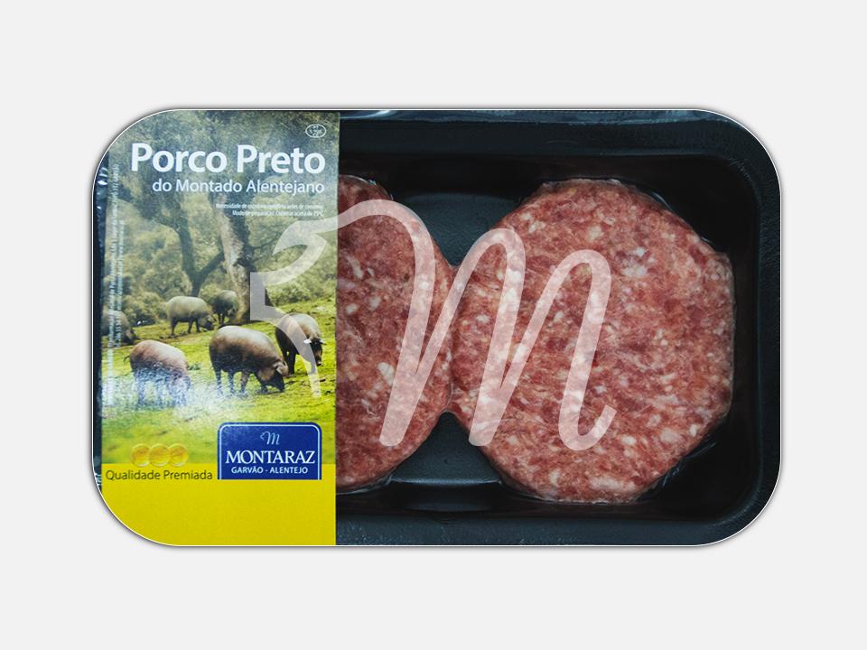 Hambúrguer de Porco Preto
